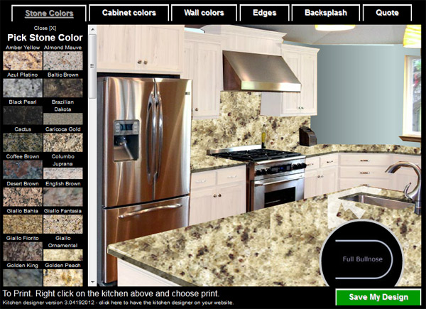 Virtual Stone Kitchen Designer